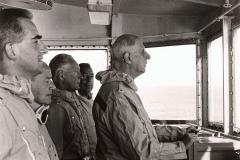 11.09.1966, le général de Gaulle à bord du De Grasse.